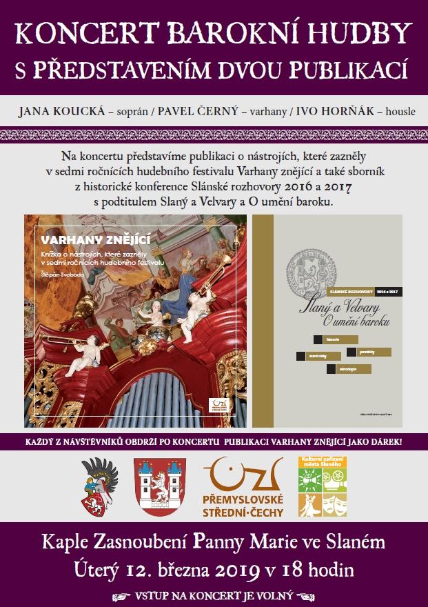 Koncert barokní hudby s představením dvou publikací